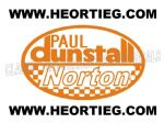 Paul Dunstall Norton Tank and Fairing Transfer Decal D20084A-5